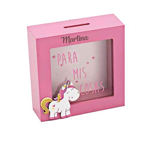 Curia Grabador Hucha de Unicornio en Madera Rosa