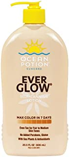 Ocean Potion Suncare Everglow Self Tanning Lotion 20.5 Ounces ( Value Pack of 2)