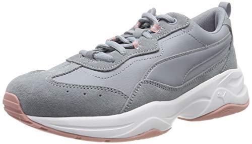 PUMA Damen Cilia Sd Sneaker, Grau(Tradewinds-Bridal Rose-Puma Silver-Puma White 02), 39 EU