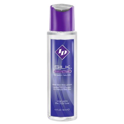 ID Silk Lubricante a base de agua de tacto natural, 4.4floz/130 ml