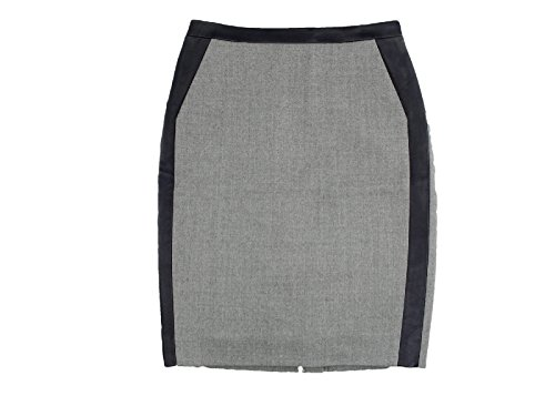 J Crew Collection No. 2 Pencil Skirt in Leather Tipped Double Serge Wool 8P