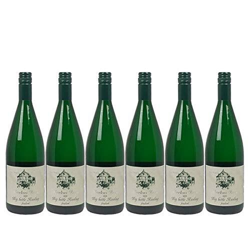Weißwein Mosel Riesling Weingut Markus Burg Qualitätswein Big Bottle feinherb und vegan (6 x 1,0l)