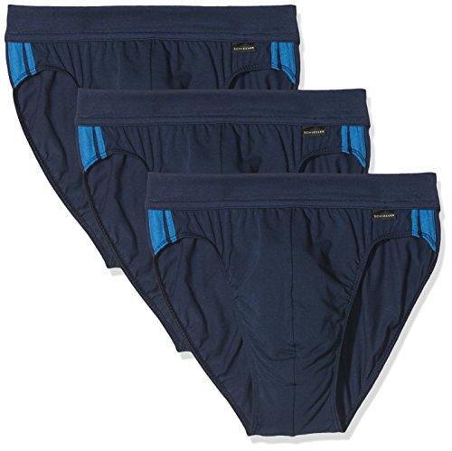 Schiesser Herren Cotton Stretch Slip, Blau (Admiral 801), Large (3er Pack