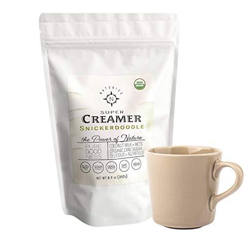 Natonics Vegan Non-Dairy Coffee Creamer, Organic, Natural Snickerdoodle Flavor with Coconut Milk MCTs