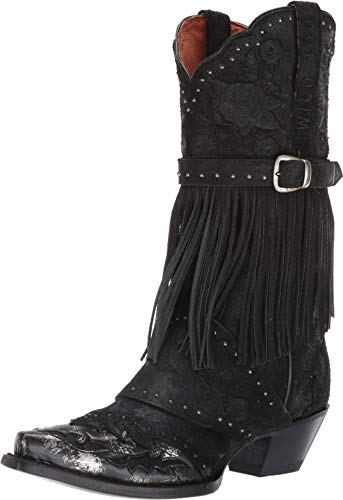 Dan Post Boots Womens Bed of Roses Casual Western Shoes, Black, 9
