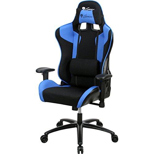 Natec genesis -Silla de Gaming sx77, Negro y Azul