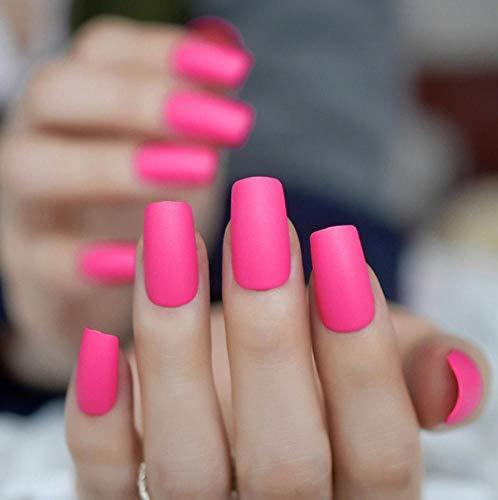 JSIYU Faux ongles Ongles Carrés Dessus Givrés Faux Faux Ongles Couverture Complète Appuyez sur Artificielle Dames Doigt Faux Nail Art, F209 B