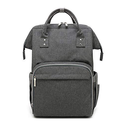 Mochila para cambiar pañales Mochila de pañales, bolso del bebé de gran capacidad, mochila de viaje de múltiples funciones bolsas de pañales bolso de enfermería momia de moda espacioso impermeable par