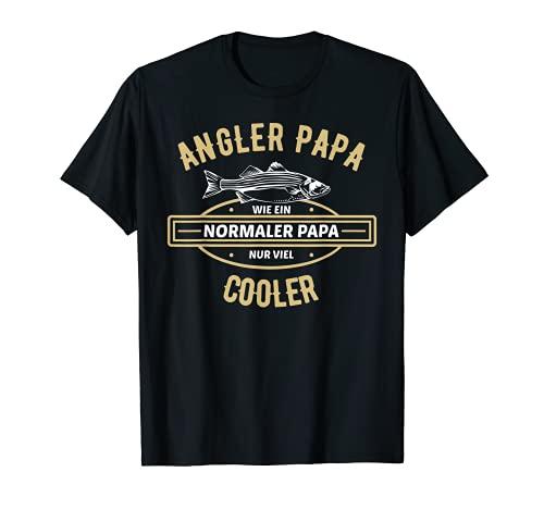Herren Angler Papa Vatertag Geschenk   Vater Angel Fischer Spruch T-Shirt