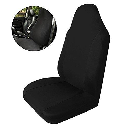 Coprisedili singoli WINOMO Carrozzeria universale auto coperchio Protezione antisdrucciolevole del sedile anteriore (nero)
