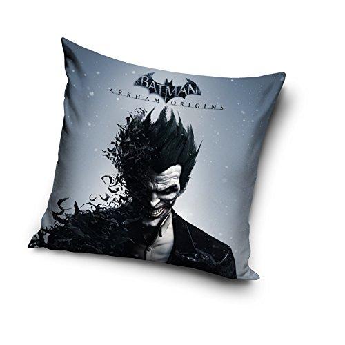 Funda de cojín decorativa - Batman Arkham Producto oficial. Tamaño: 40 x 40 cm. Cierre de cremallera oculta, relleno no incluido. Mismo diseño en ambos lados.