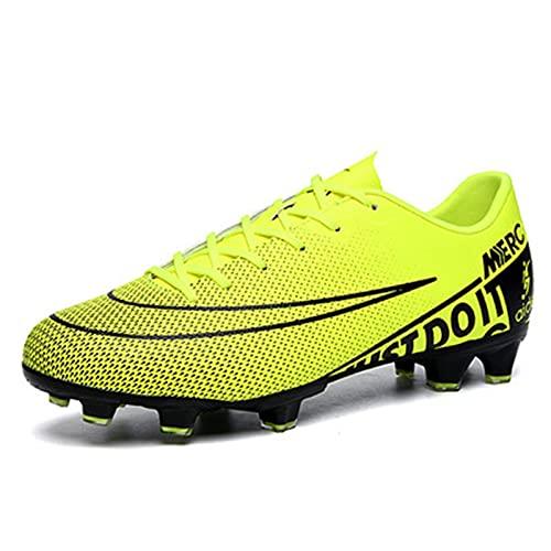 Zapatos de fútbol - Fútbol atlético para Hombres Interior al Aire Libre Turf de Turno Cómodo Botas de fútbol Competición/Entrenamiento Sneaker -Soft Cómodo Fit Flexible FG/TF Adolescente Fútbol
