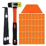 Life up 43 PCS Kit de Suelo Laminado Kit de Instalación de Suelos de Madera Laminada con Bloque de Rosca Barra de Tracción Mazo 40 Espaciadores para Instalación de Pisos Armados y Parquet