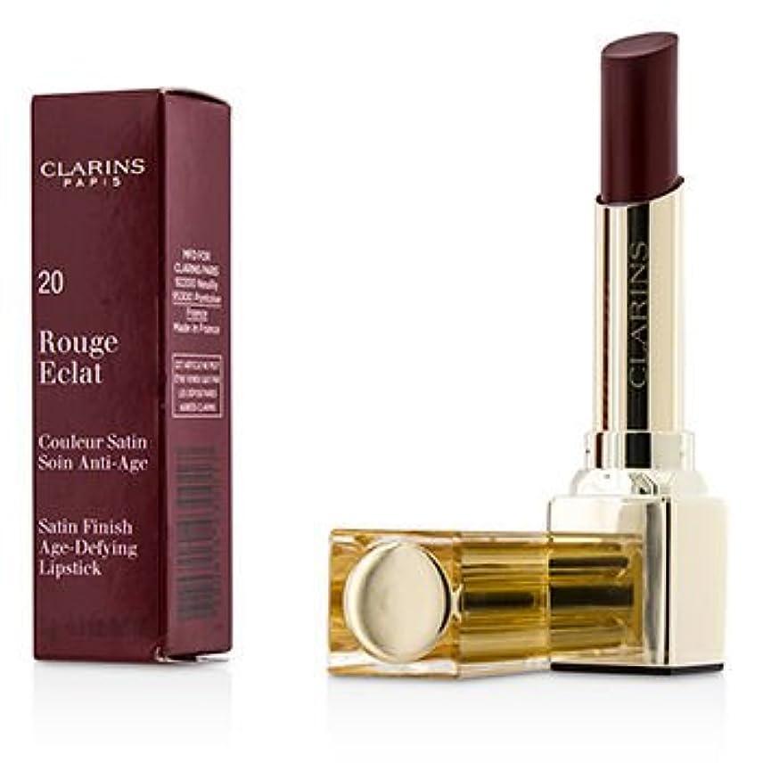 倍増奇妙な深める[Clarins] Rouge Eclat Satin Finish Age Defying Lipstick - # 20 Red Fuchsia 3g/0.1oz