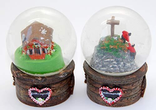 Minium Collection 3-60-61 - Juego de 2 bolas de nieve bávaras (65 mm de diámetro)