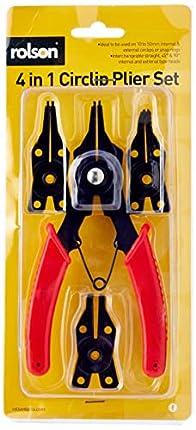 Rolson - Juego de alicates con 4 cabezales diferentes, color rojo y negro