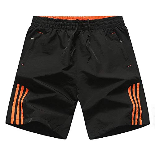 NOBRAND Pantalones cortos casuales de verano, tamaño grande, para correr, fitness, deportes de engorde, para hombre, pantalones de baloncesto de cinco puntos