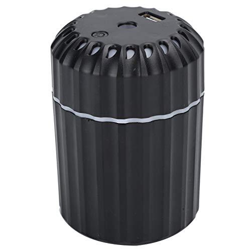 Stummschaltung Niedriger Stromverbrauch Mini Leichter USB-Luftbefeuchter, 200-ml-Wassertank-Luftbefeuchter mit kühlem Nebel, für das Home Office(Black)