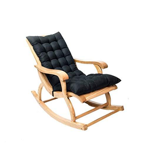 Yzzlh - Almohadillas de repuesto para tumbonas de jardín, reclinable, portátil, para sillas de jardín, color negro