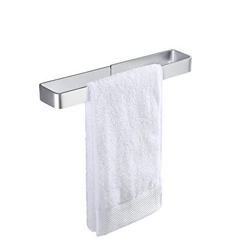 KES Handtuchhalter ohne Bohren Bad Handtuchstange Selbstklebend Handtuchring Geschirrtuchhalter Handtuch Halterung Aluminium 40 CM Eloxiert Silber, BTH402S40