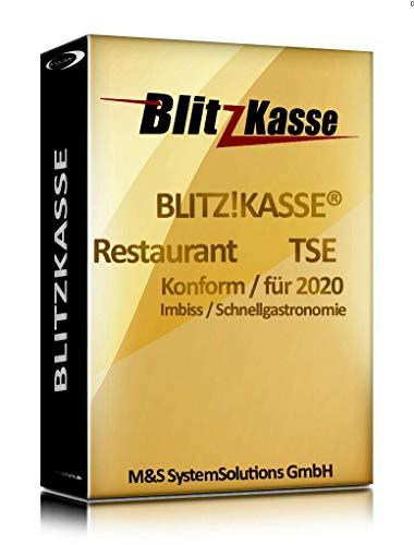 WIN Kassensoftware BlitzKasse Restaurant S für Gastronomie. 25 Tische, 2 Drucker. GDPdU, GoBD, TSE KONFORM