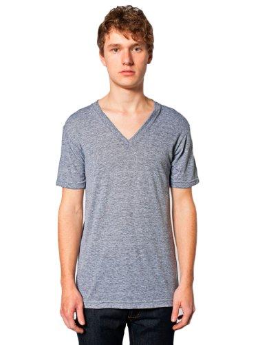 American Apparel Men Tri-Blend V-Neck T-Shirt Size M Athletic Grey
