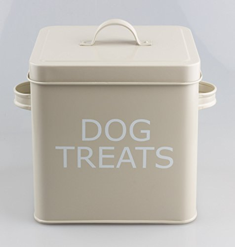 Blechdose für Hunde-Leckerli, mit Deckel, Retro-Optik