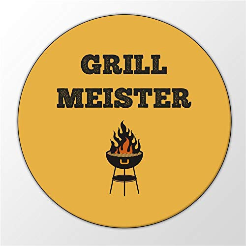 Kühlschrank Magnet Grillmeister Barbecue BBQ Feuer Grill Magnettafel Whiteboard
