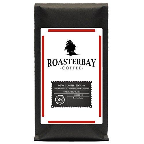 Roasterbay Premium Crema aus Peru / Ganze Bohne / sehr säurearm/ milde Röstung/ sortenreiner Arabica/ für Liebhaber