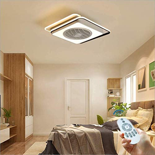 Deckenventilatoren mit Licht 60 W Fan Deckenleuchte Moderne LED-Licht dimmbar mit Fernbedienung Einstellbare Windgeschwindigkeit Acryl Deckenleuchten for Schlafzimmer Gastronomie Dekoration Beleuchtun