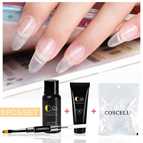 Coscelia Poly Nail Extension Gel Kit 6...