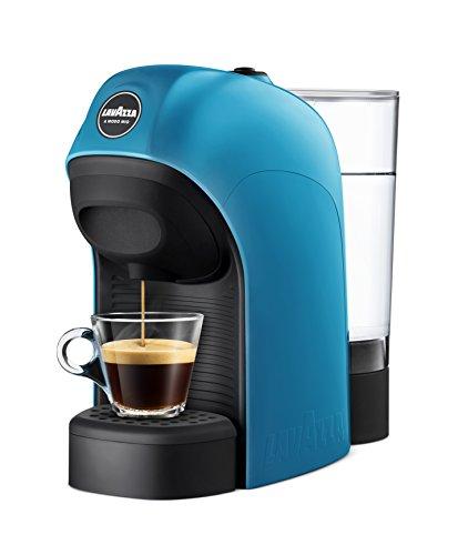 Lavazza LM800 Tiny Independiente Máquina de café en cápsulas 0,75 L Semi-automática - Cafetera (Independiente, Máquina de café en cápsulas, 0,75 L, Cápsula de café, 1450 W, Negro, Azul)