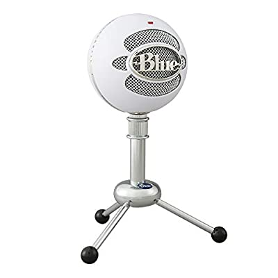 Blue Microphones Snowball USB Microphone, Classic Studio-Quality Mic For Recording, Podcasting, Broadcasting, Twitch Game Streaming, VOICE overs, YouTube Videos on PC and Mac - White