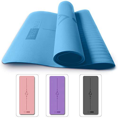 Finesse TPE - Tappetino da yoga, colore: Blu