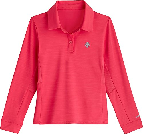 Coolibar Polo Protection UV pour Fille Rose Taille XS (4 Ans)