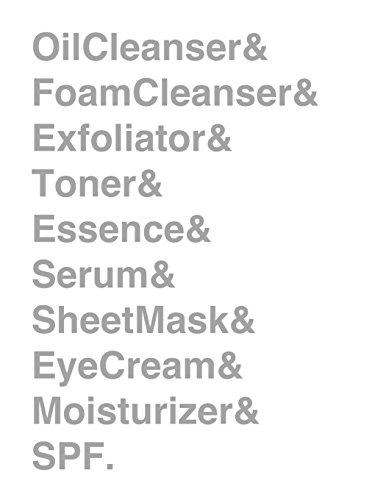 Oil Cleanser & Foam Cleanser & Exfoliator & Toner & Essence & Serum & Sheet Mask & Eye Cream & Moisturizer & SPF. Journal: KBeauty 10 Step Skincare ... [8.5 x 11 in / 100 pgs / College Ruled]