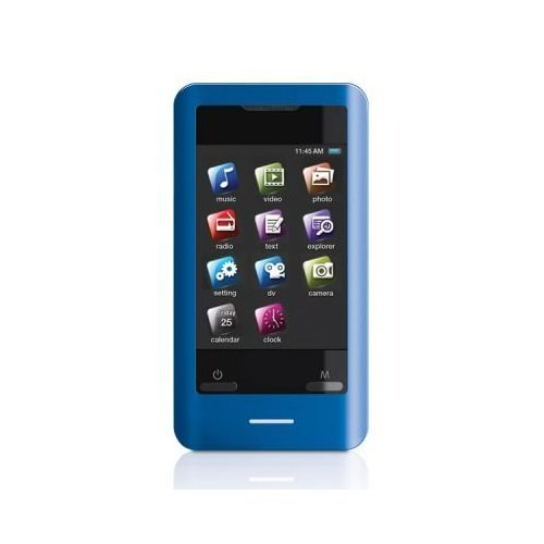 Coby MP828-8GBLU 8 GB 2.8-Inch Video MP3 Player with FM Radio (Blue) (Discontinued by manufacturer)