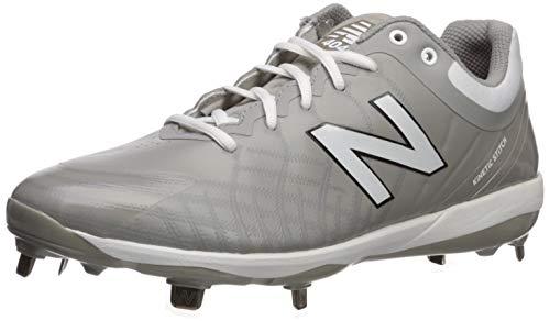 New Balance 4040v5 Metal, Cleat de béisbol Hombre, Gris Blanco, 49 EU