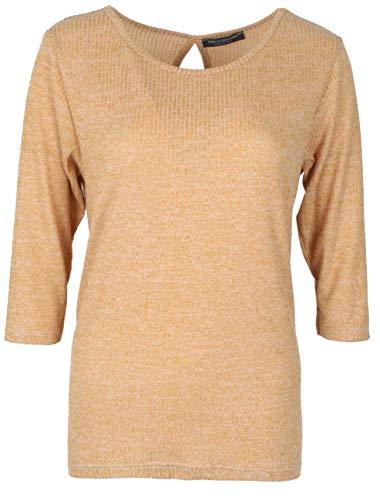 Emma & Giovanni - T-Shirt 3/4 Ärmel für alle Jahreszeiten - Damen (Senf, 42-44)