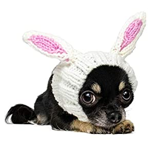 Zoo Snoods Bunny Dog Costume – Neck and Ear Warmer Hood for Pets