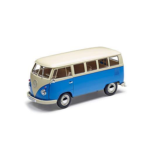 Volkswagen 231099302ALRD modelauto originele VW T1 bus 1:18 speelgoed bouwjaar 1963 klassiek blauw