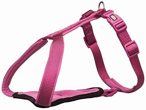 TRIXIE Pettorina Y Premium, M – L: 60 – 70 cm/20 mm, rosa flamenco