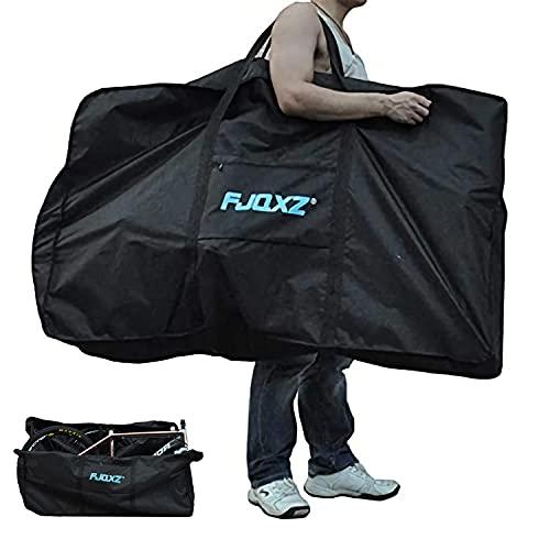 ZBogo Faltrad Transporttasche, Faltrad Reisetasche 1680D Oxford Klapprad Tragetasche Wasserdicht Fahrradtasche Fahrradabdeckung für Transport Flugreisen Schwarz