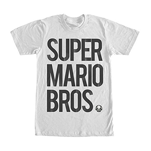 Nintendo Men's Stairs T-Shirt, White, XX-Large