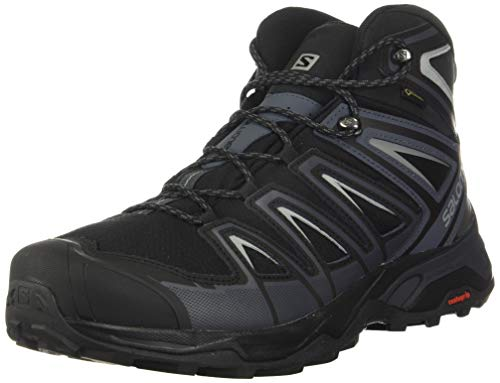 Salomon mens X Ultra 3 Mid Gtx Hiking, Black/India Ink/Monument, 9.5 US