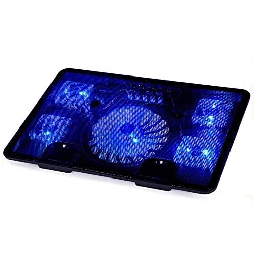 JIANGCJ Simple y Elegante Radiador informático, refrigerador de Cuaderno, 14 Pulgadas 15.6 Pulgadas Laptop Portátil de 17 Pulgadas Placa de Almohadilla de Ventilador Mute Mute