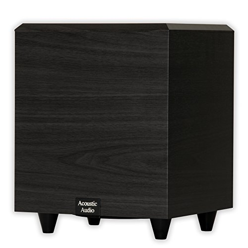 Acoustic Audio PSW-6 Down Firing Powered Subwoofer (Black)