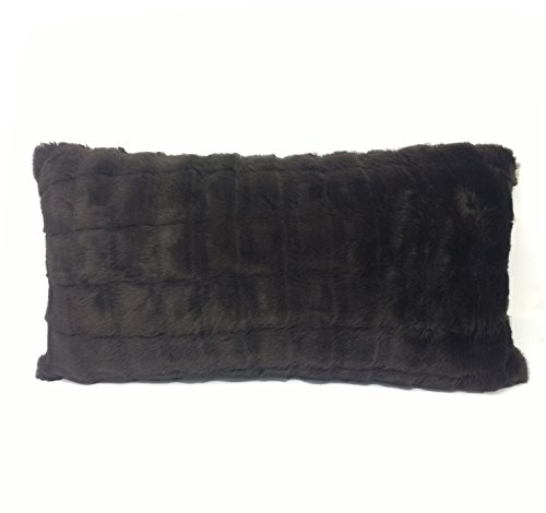 Luxe Alaska Marron Fausse fourrure Coussin boudoir, Cushion Cover ONLY