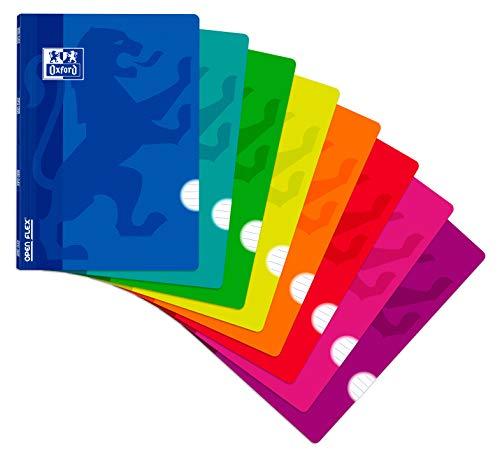 Libreta Oxford grapada A4 48 h Openflex 40 raya (varios colores)