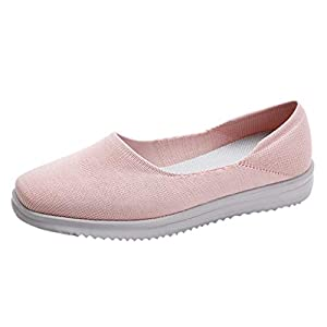 Zapatillas De Mujer con CuñA-Malla Al Aire Libre Ocasionales Runing Zapatos Transpirables Zapatillas De Deporte-Zapatillas De Mujer con Plataforma-Gran TamañO-Calzado De Senderismo(Rosado,38EU)
